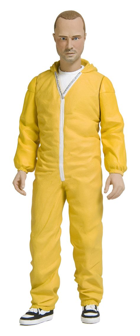 "Breaking Bad Jesse Pinkman Yellow Hazmat 6/"" cm MEZCO Figurine"