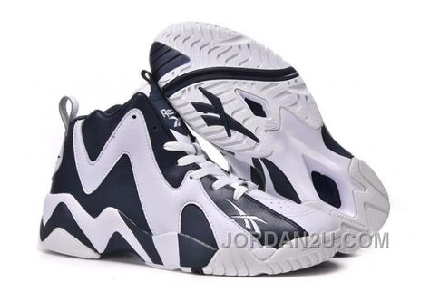f3500a5bee83 Reebok Kamikaze II Mid Mens Fashion Sneaker Basketball Deep Blue White For  Sale HNFDD