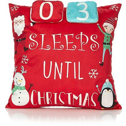 Red Christmas Countdown Cushion Home Garden George