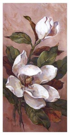 Framed Magnolia Accents ll Print