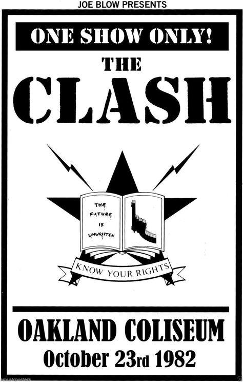 1982 THE CLASH *OAKLAND COLISEUM* CONCERT POSTER