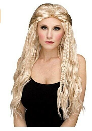 Lagertha Vikings Wig Braided Blonde Halloween Party Long Cosplay Warrior Hair Lagerthavikingswig Costume Wigs Lagertha Costume Long Blonde Hair