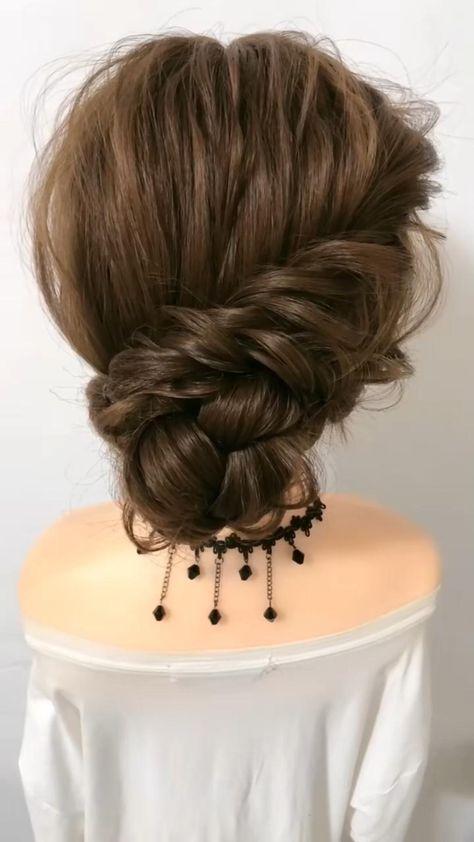 braided hairstyle   easy braided hair   Bride hairstyle   easy Bride hairstyle