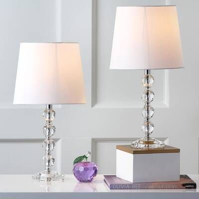 Alessia 2 Drawer Nightstand In 2020 Lamp Sets Table Lamp Sets Crystal Table Lamps