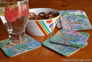 How to make Disney coasters from park maps.