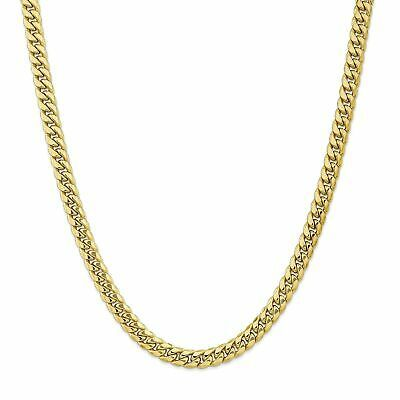 Ebay Ad Versil 10 Karat Gold Semi Solid Miami Cuban Chain Bracelet Yellow Gold Chains For Men Chains For Men Cuban Chain