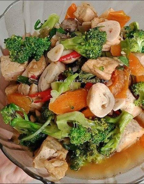 Tumis Brokoli Jamur Tahu Di 2020 Resep Masakan Masakan Resep