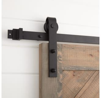 Signature Hardware 440998 Black Hal 120 Inch Barn Door Hardware Set Includes Undrilled Track Rollers And Matching Hardware Barn Door Barn Door Hardware Rustic Barn Door