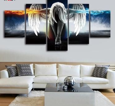 Angel Decoracion 5 Piece Wall Pictures Home Decor Paintings Picture Wall Decor