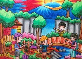 Mewarnai Orang Seni Ide Menggambar Lukisan