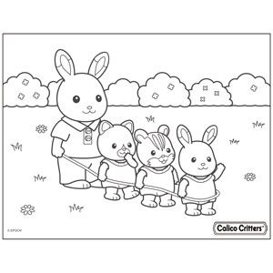 Coloring Calico Critters In 2020 Family Coloring Pages Coloring Pages Family Coloring