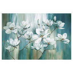 Beautiful Day Soft Canvas Art Print 36x24 In Canvas Art Painting Botanical Wall Art Canvas Decor