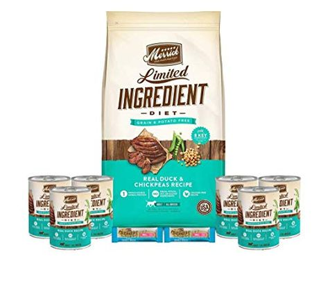 Merrick Dog Food Limited Ingredient Duck 12lb 6 Cans Limited
