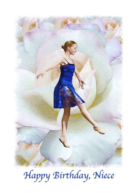 Birthday Niece Ballet Dancer Roses Card Ad Ad Ballet Niece Birthday Card Birthday Cards For Niece Daughter Birthday Cards Sister Birthday Card
