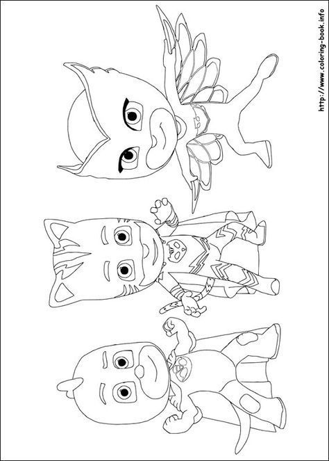 pj masks coloring pages coloring pages