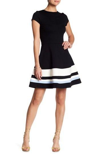 Love Ady Short Sleeve Fit Flare Dress Nordstrom Rack Fit N Flare Dress Flare Dress Casual Fit Flare Dress