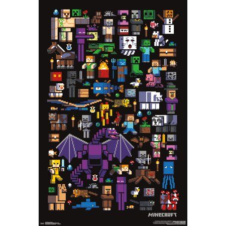 Minecraft Mobbery Walmart Com Poster Prints Poster Wall Trends International