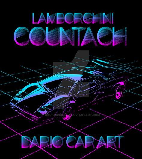 Bildresultat For Lamborghini Countach Neon Art In 2019