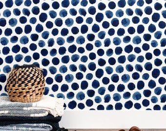 Blue Watercolor Peel And Stick Wallpaper Removable Wallpaper Etsy Removable Wallpaper Adhesive Vinyl Paper Stick On Wallpaper
