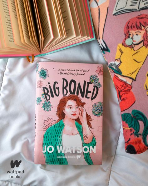 Happy book birthday to Big Boned by Jo Watson! This sweet coming-of-age YA contemporary all about loving yourself is now available for purchase from Wattpad Books, online, and in your local bookstore! Grab your copy today!