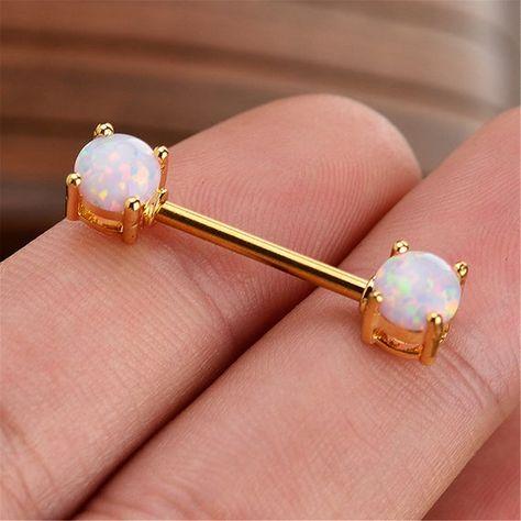 Aquamarine Gauged Ears Brass Shield Ear Hangers Copper Gypsy Charm Earrings