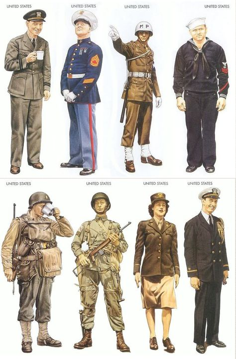 A World At War — worldwar-two: Anassortmentof uniforms worn by...
