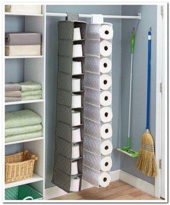 38 Best Inspiring Small Bathroom Storage Ideas Is Well Organize Diy Toilet Paper Holder Paper Towel Storage Toilet Paper Storage