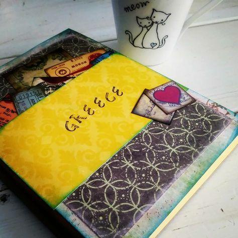 35ad312287c Custom handcrafted Greece honeymoon journal