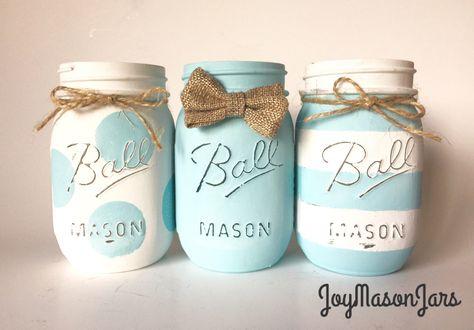 45 Ideas Baby Shower Ideas For Boys Decorations Elephant Mason Jars For 2019