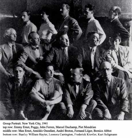 Image result for Group Portrait, New York City, 1941 image top row:Jimmy Ernst,