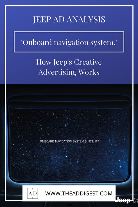 How Jeeps Creative Advertising Works.
