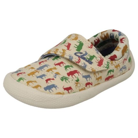 Choc Ice Boys Clarks Canvas Shoes