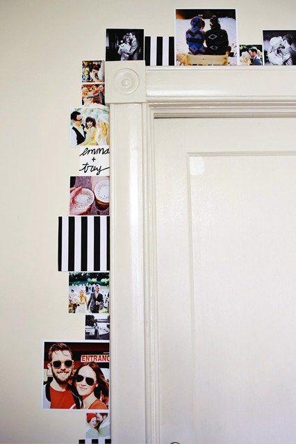 Door Frame - Hanging Pictures - Cool Ways to Hang Pictures  (houseandgarden.co.uk) | bedroom | Pinterest | Hanging pictures, Doors and  Room
