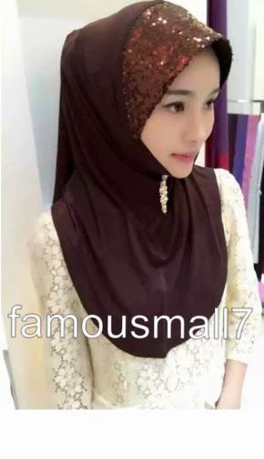 Pull On Ready Made One Piece Chiffon Hijab Long Shawl Scarf Pashmina