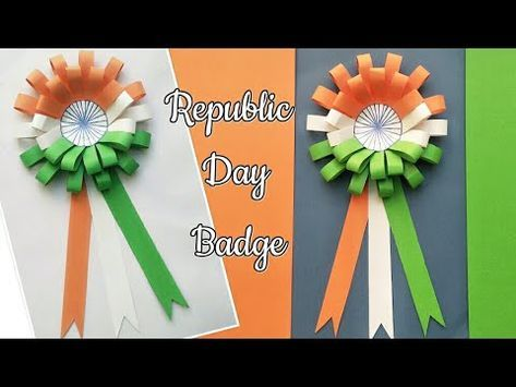 Diy Republic Day Badge Indian Tricolor Flag Badge 26th Jan Craft