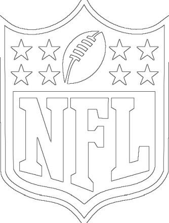 Nfl Logo Football Coloring Pages Sports Coloring Pages Nfl Logo