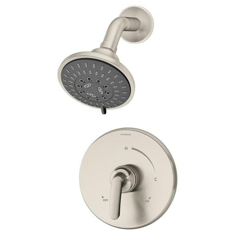 Symmons Elm 1 Handle Shower Faucet Trim In Satin Nickel Valve Not
