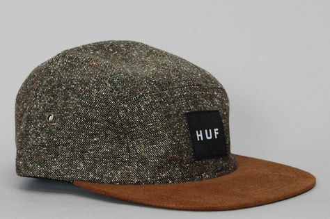 aaafe194 HUF - Tweed 5 Panel Volley Cap - Olive Desperately want.   Homme ...