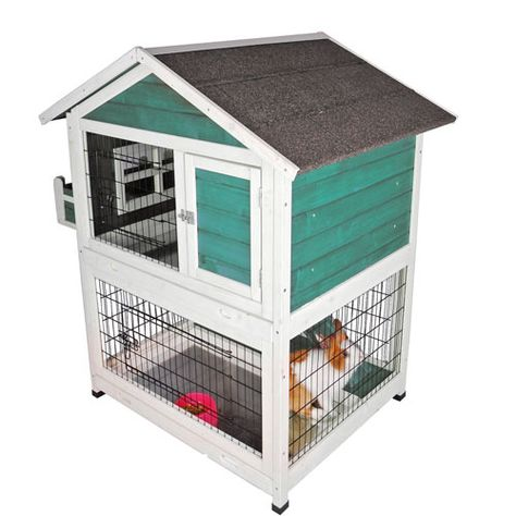 petsfit 42 5 x 30 x 46 inches bunny cages outdoor rabbit hutch rh pinterest ca
