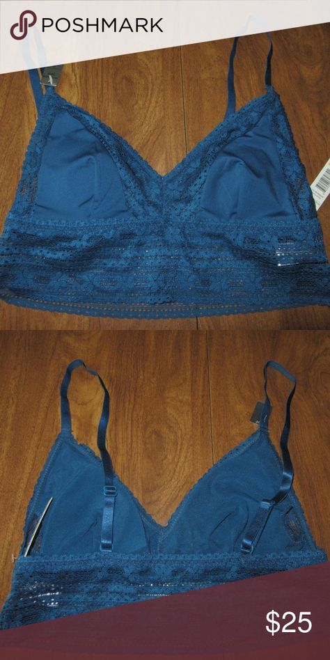 2176c52a6eb79 Sophie B Small Dark Teal Bra Bralette NWT Sophie B Small Dark Teal Bra  Bralette Removable Pads NWT BRAND - Sophie B SIZE - Small This is about 13  inches ...