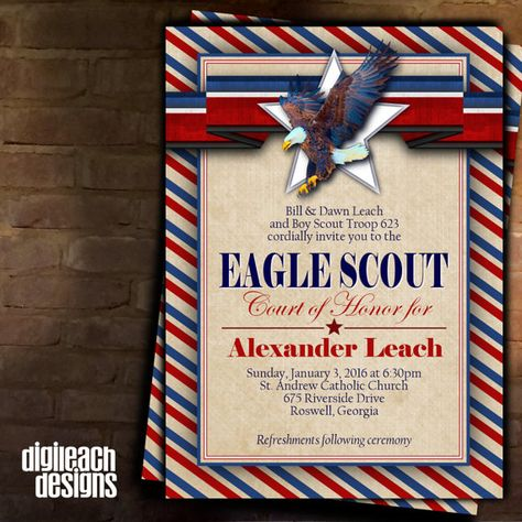 Eagle Scout Court of Honor Invitation: Khaki by DigileachDesigns