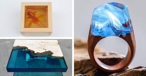 Resin Art That Captures the Dazzling Material's Versatility