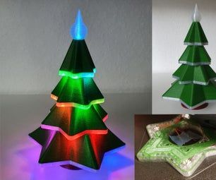 Embedded Led 3d Printed Christmas Tree Arduino Rocket Lamp Led Christmas Tree