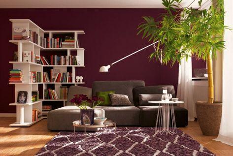 wandfarbe beere schöner wohnen trendfarben Room colours - wohnzimmer grau beere