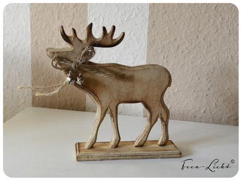 Deko-Objekte - Rentier Holz