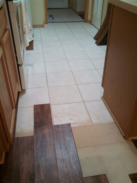 Laying Laminate Wood Flooring Over Ceramic Tile Installing Floors