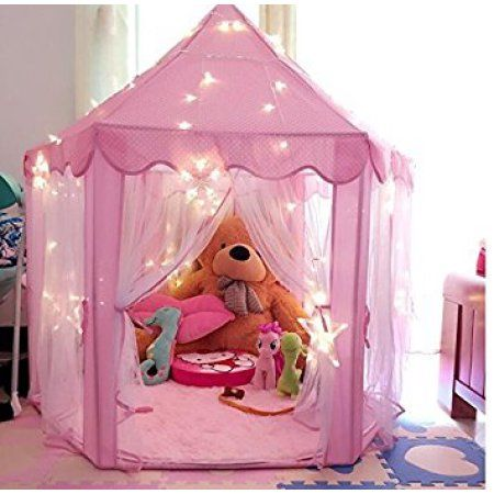 Pink Princess Castle Kids Play Tent Children Playhouse Great
