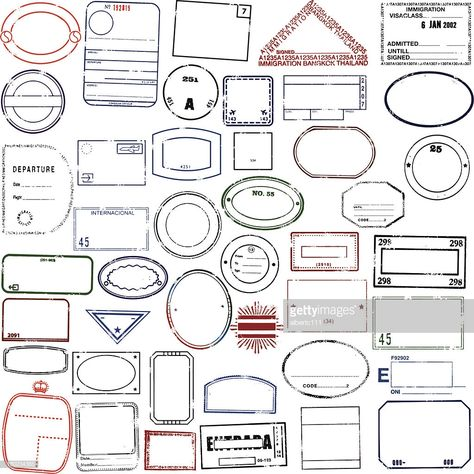 Giant Blank Passport Stamp Collection Great If You Want To