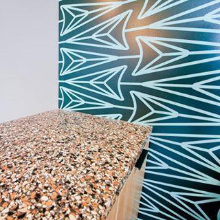 Terrazzo Look With A Black Sea Countertop Ecoterr