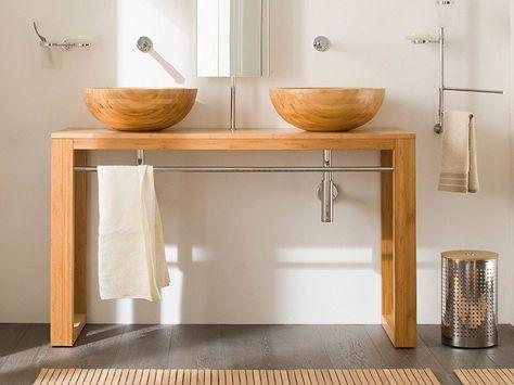 Bathroom Vanity And Sink Basins Made Of Water Resistant Wood Luxury Bathroom Vanities Timber Bathroom Vanities Bathroom Design